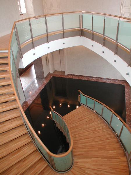 escaliers hotel de ville amiens architecture patrimoine. Black Bedroom Furniture Sets. Home Design Ideas