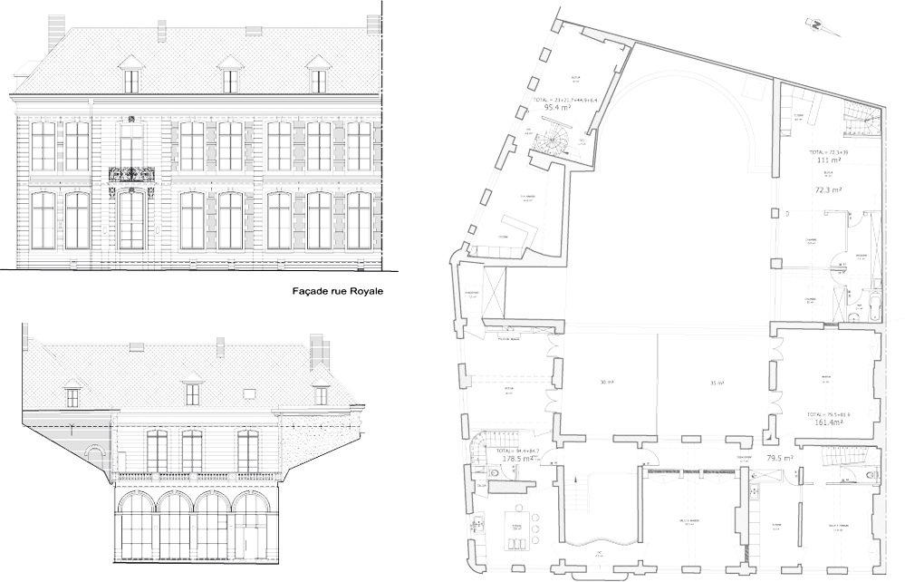 Logements hotel particulier savary 7 logements lille architecture logemen - Hotel particulier lille ...
