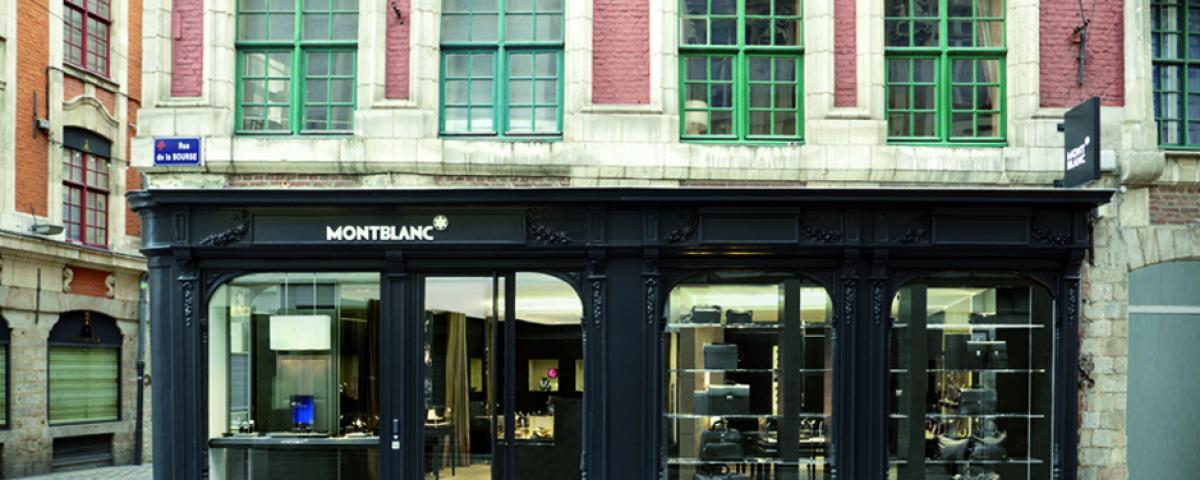 MONT BLANC, Extension et aménagement de la boutique Montblanc à Lille